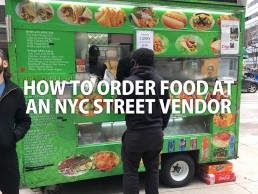 How to order food at an NYC street vendor